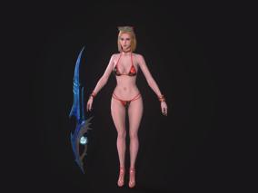 泳装美女,刺客,剑士,黑暗复仇者3