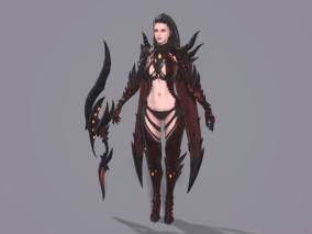 盔甲女战士,刺客,黑暗复仇者3