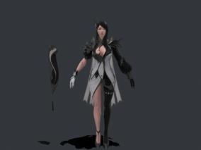 中式服饰美女剑士