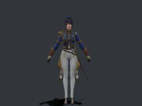 欧式宫廷美女守卫