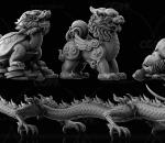中国风复古神兽