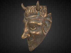 青铜面具古董工艺品CG模型