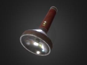 复古风格的手电筒FBX模型