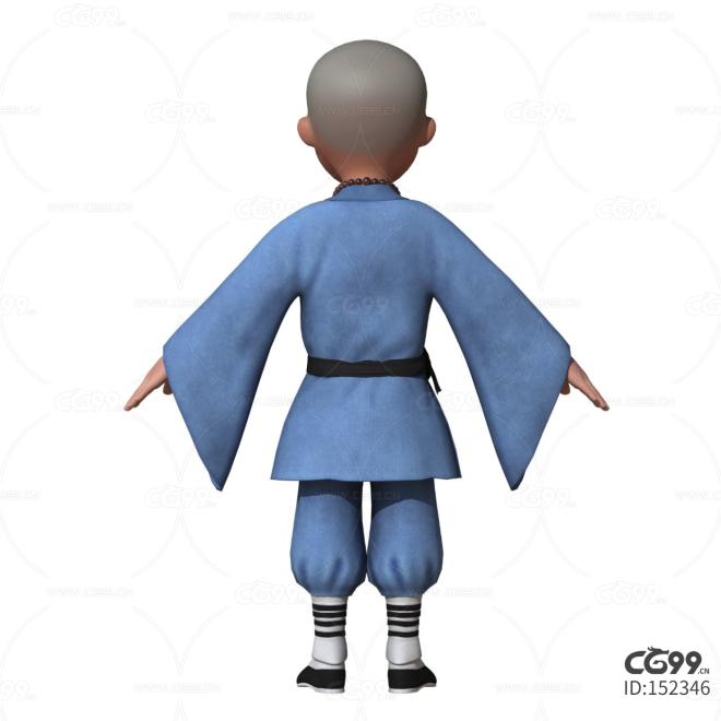 小和尚 小唐僧 小沙弥 中国风 万能 通用 次时代模型 影视模型