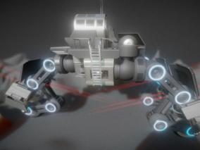 宇宙外太空攀爬车FBX模型