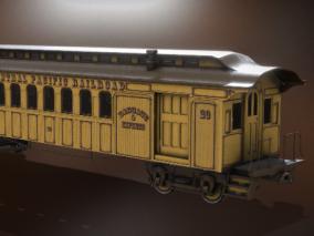 蒸汽时代火车车厢FBX模型