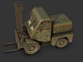 次时代PBR老重型叉车FBX模型