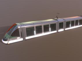 次时代PRB现代城市高铁FBX模型
