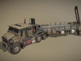 次时代PRB军用运送导弹运输车FBX模型