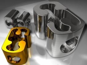 简单细腻的金属雕塑 3d模型