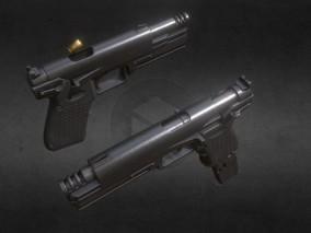 次世代高模 写实 未来 金星级手枪 3d模型