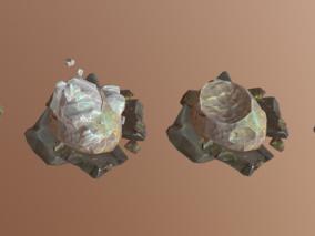 次时代PBR卡通风格岩石堆FBX模型