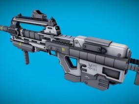 次世代高模 写实 科幻未来冲锋枪 3d模型