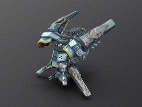 次时代PBR无人机V4赛博科技FBX模型