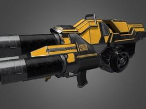 科幻火箭发射器 3d模型