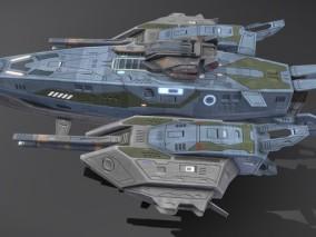次时代PBR护卫舰支配者号CG模型