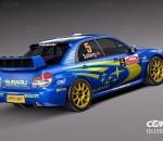 超精细斯巴鲁Impreza STI WRC版拉力赛车CG模型