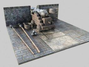 PBR-加农炮场景 3d模型