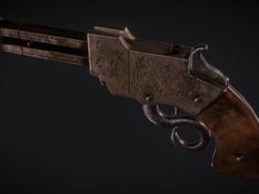 火山炮 3d模型