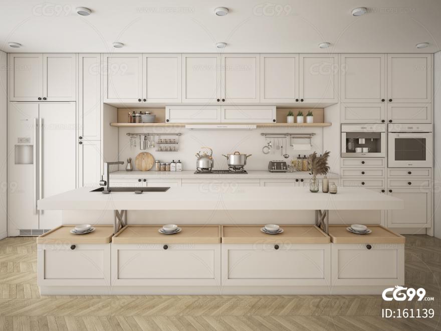 现代时尚大气 气派厨房厨柜