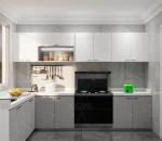 现代风格集成灶厨房