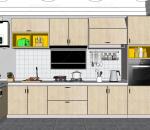 北欧风格厨房场景