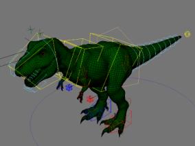 恐龙【带maya绑定】