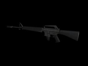 突击步枪 3d模型