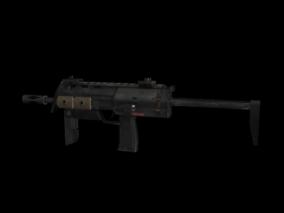 冲锋枪 3d模型