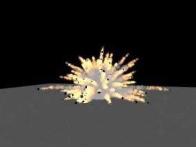 爆炸特效 画面 场景 3d模型