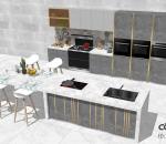 轻奢风格开放式集成灶厨房