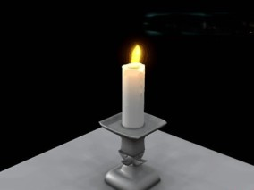 灯台 蜡烛 3d模型