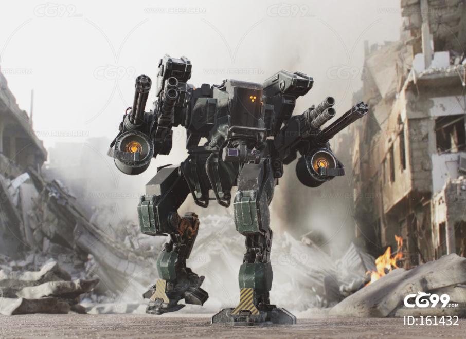 PBR 高品质 战争机器 科幻 装甲 写实 未来机器 武装机甲