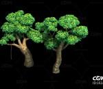 三渲二Q版百亩林3Dmax模型