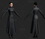 次时代欧美短发礼服美女FBX模型