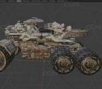 科幻战车 激光炮 无人战车