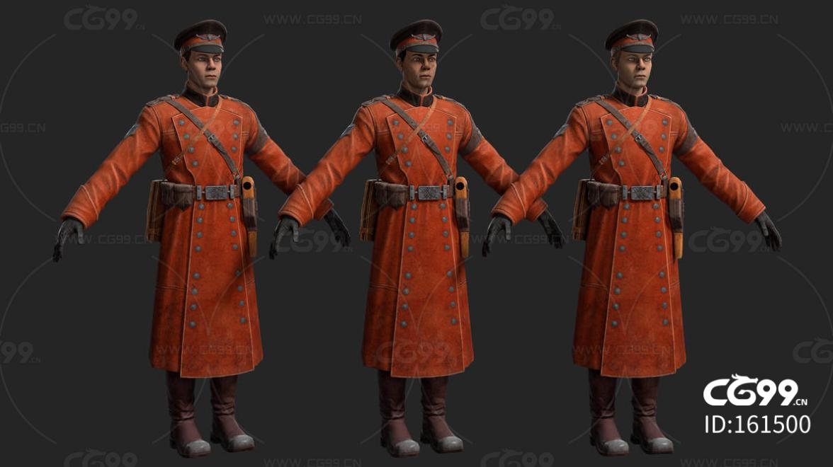 次时代欧美皇家士兵FBX模型