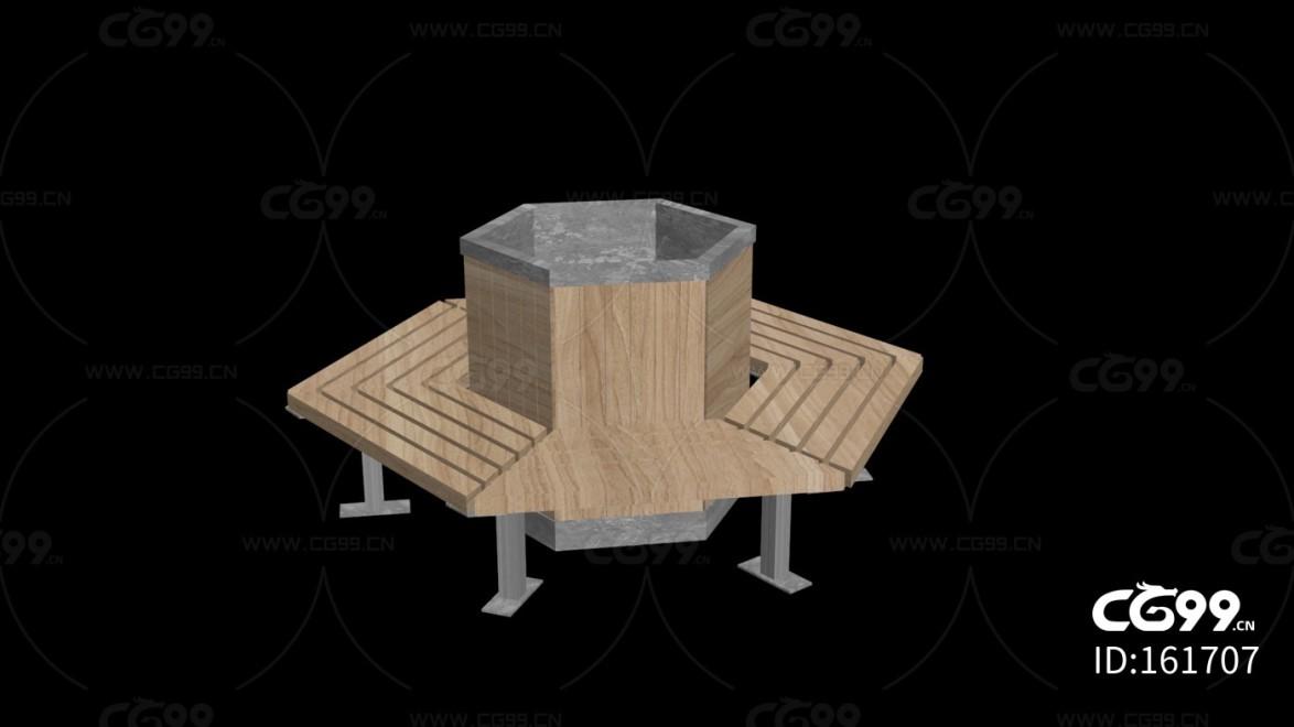 城市公用设施 圆坛椅