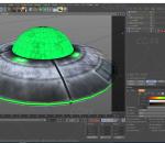 卡通飞碟UFO 科幻未来 宇宙飞船 外星太空飞船 天外来客 圆形的飞碟形飞行器 不明飞行物 卡通