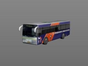城市公用设施 红蓝巴士 3d模型