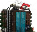 城市建筑 广告牌 房顶 空调 户外楼梯
