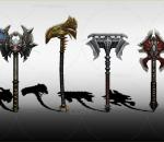 武器道具 斧头 游戏武器 冷兵器
