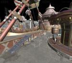 游乐园 旋转木马 海盗船场景完整
