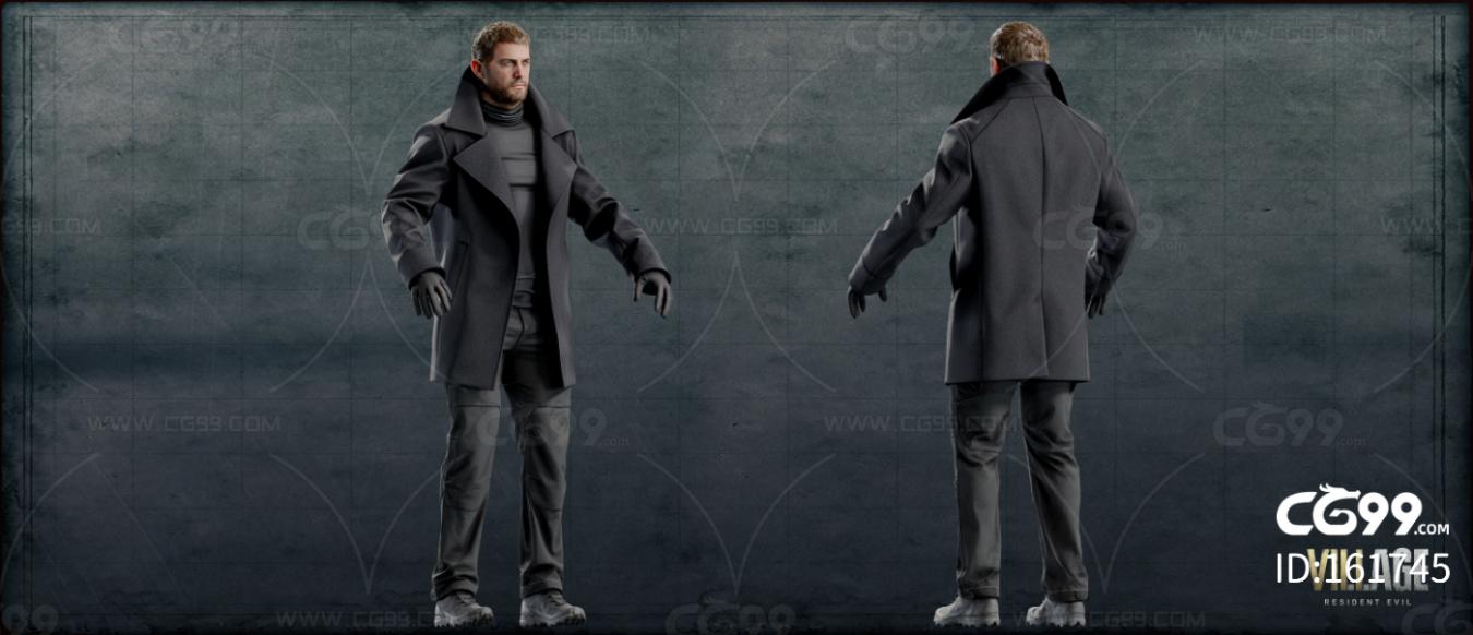 次时代PBR游戏 克里斯 带骨骼蒙皮