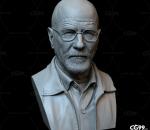 绝命毒师半身像3D打印模型 STL格式