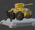 lowpoly低聚坦克 武器 军队 游戏