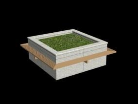 城市公用设施 园艺景观 3d模型