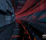 赛博朋克 隧道,科幻,未来,太空通道,科幻隧道,科幻建筑 重金属