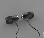 入耳式耳机 便携式耳机 运动耳机 电子产品 C4D