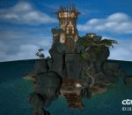 PBR次世代 黑暗城堡 依山城堡 傍海城堡 堡垒 魔幻城堡 古堡 古建筑 西方城堡 欧洲城堡